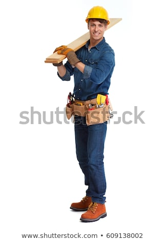 construction worker isolated on white background stock photo © photography33
