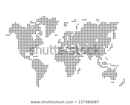 Black pixelated map of the world. vector Stock photo © odes