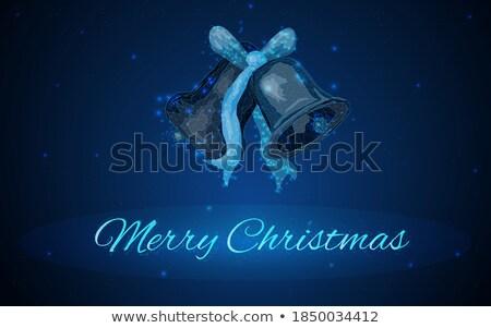 ringing bell icon on retro triangle background stock photo © tashatuvango