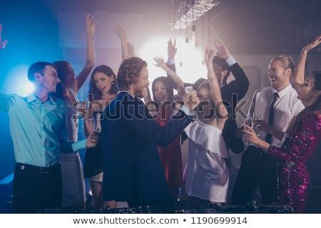 Tánc fiatal nő visel mesés ruha fiatal Stock fotó © konradbak