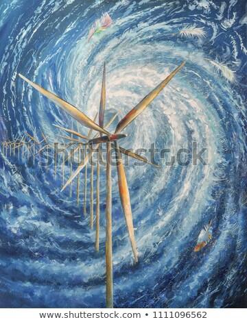 drámai · égbolt · festmény · digitális · vízfesték · absztrakt - stock fotó © 3mc
