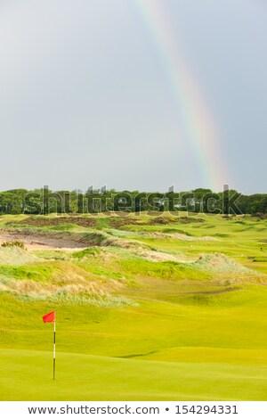 Rainbow · campo · da · golf · Scozia · cielo · golf · panorama - foto d'archivio © phbcz