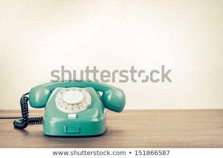 ストックフォト: レトロな · 電話 · リボン · 文字 · リング · オフィス