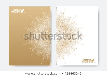molecular lattice on art background Stock photo © ssuaphoto