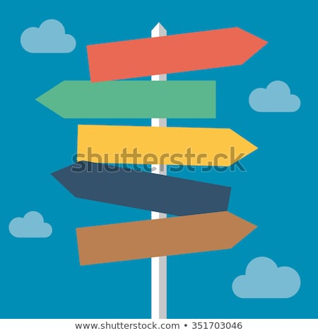 Blue direction sign with space for text. Stock photo © latent