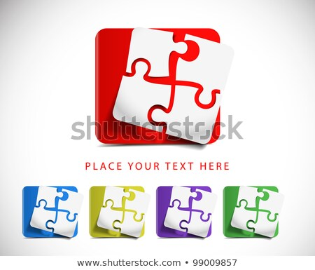 Blog on Orange Puzzle. Stock photo © tashatuvango