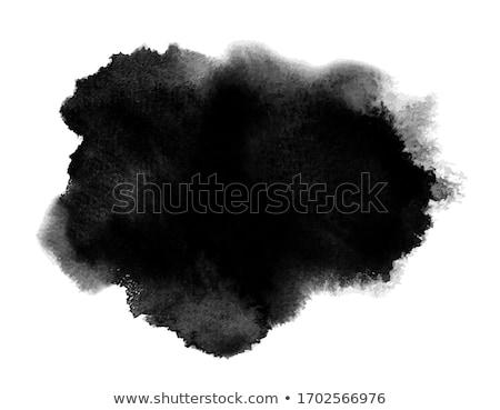 ayarlamak · siyah · mürekkep · sıçrama · grunge · soyut - stok fotoğraf © adamson