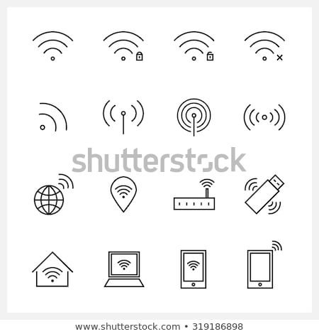 Set of wifi icons for business Stock photo © kiddaikiddee
