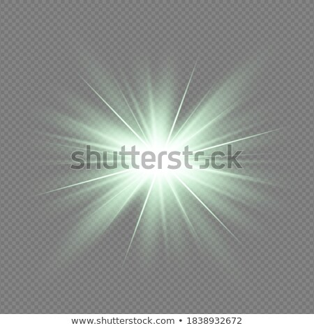 vibrant green light burst background with shiningcenter star stock photo © wenani