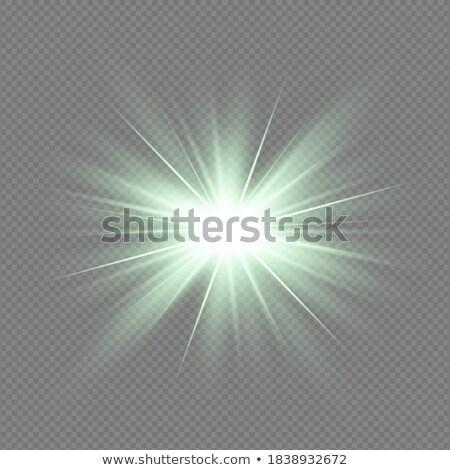 Vibrante verde luz estrellas brillante Foto stock © wenani