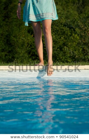 voeten · heldere · Blauw · zwembad · zwemmen · dag - stockfoto © saje