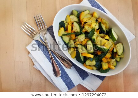 Zucchini con Salvia Stock photo © fanfo