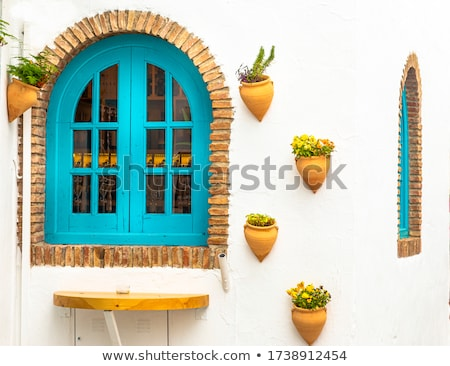 wooden window old house granada spain stock photo © hasloo