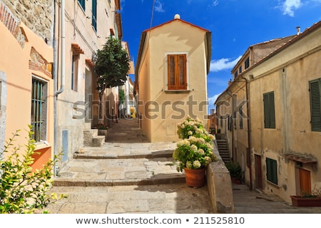 Stock photo: Elba Island - Street In Marciana