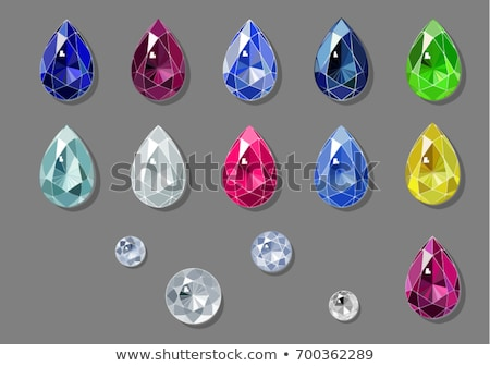 Color water drop shaped gem vector illustration. Stock photo © tuulijumala
