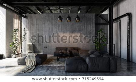 Moderne stijl plafond gebouw voorraad foto kantoor Stockfoto © nalinratphi