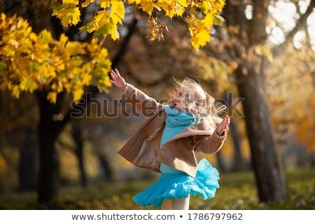 осень довольно девушки зонтик Сток-фото © anacubo