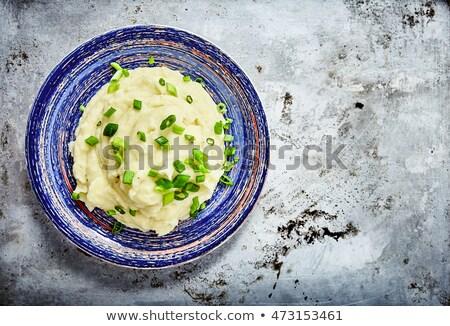Krumpli edény aprított snidling forró ebéd Stock fotó © raphotos