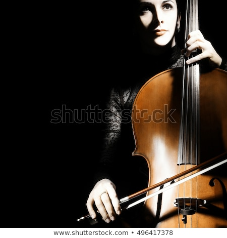 少女 チェロ 黒 演奏 木材 女性 ストックフォト © InTheFlesh