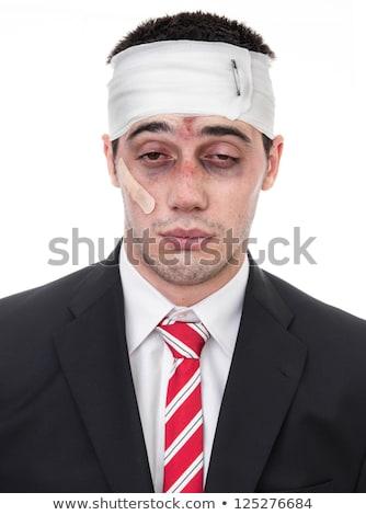 Vesztes üzletember izolált fehér boldog piros Stock fotó © Elnur