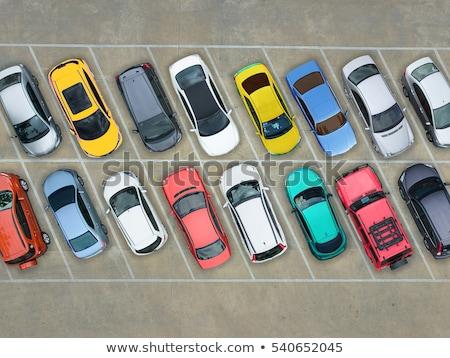 Samochody parking rząd nowoczesne miasta podróży Zdjęcia stock © neirfy