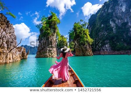 Travel island and green lake ( Guilin of Thailand ) Stock photo © Yongkiet