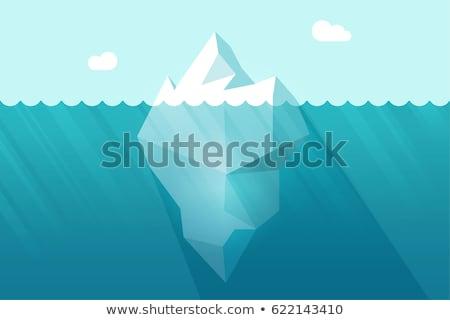 Azul icebergue brilhante nublado dia projeto Foto stock © cidepix