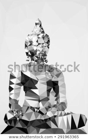 Ilustración estatua aislado blanco resumen culto Foto stock © gigra