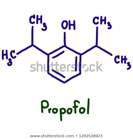 chemicznych · wzoru · odizolowany · biały · model · nauki - zdjęcia stock © zerbor