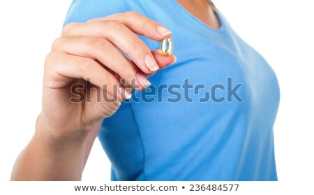 omega · 3 · man · visolie · capsules · handen - stockfoto © id7100