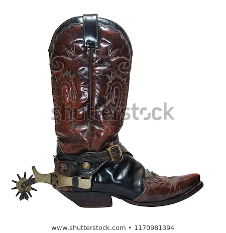 cowboy boot with spur and horse stock photo © franky242
