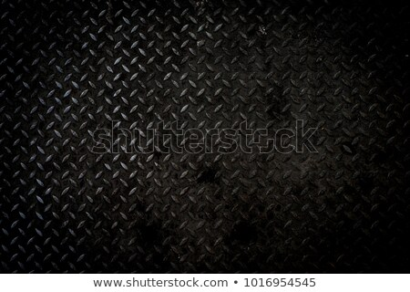 Dark Metal Diamond Plate Stock photo © ArenaCreative