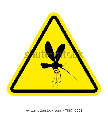 yellow fever on warning road sign stock photo © tashatuvango