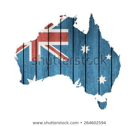Australiano mapa bandeira branco viajar Foto stock © olgaaltunina