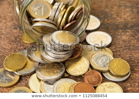 old european coins in glass botlle  Stock photo © jonnysek