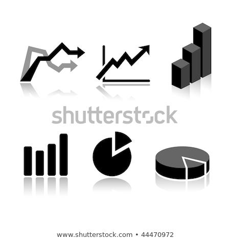 Foto stock: Onjunto · de · 6 · ícones · de · gráfico