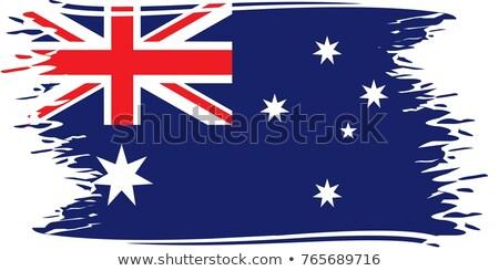 オーストラリア人 グランジ フラグ 実例 ベクトル テクスチャ ストックフォト © saicle