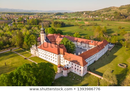 Kolostor Szlovénia Európa kastély épület kert Stock fotó © kasto