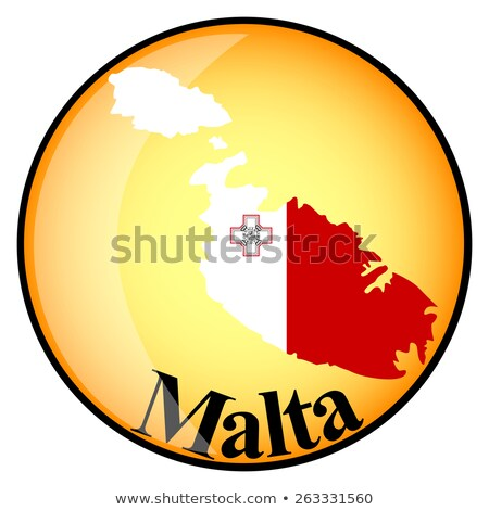 orange button with the image maps of Malta Stock photo © mayboro