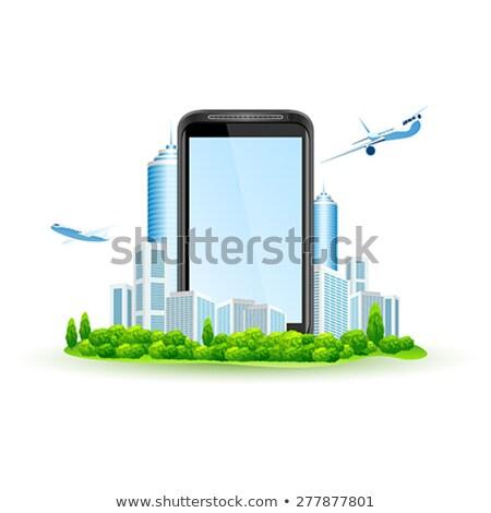 écran tactile ville autour isolé blanche Photo stock © WaD