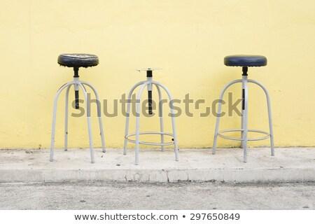 バー · スツール · 孤立した · 白 · 光 · 金属 - ストックフォト © art9858