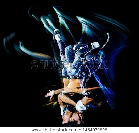 Multiple image of young man break dancing  Stock photo © master1305