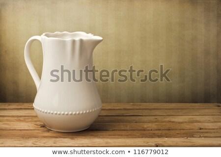 白 · セラミック · 孤立した · カップ · コンテナ · ストレージ - ストックフォト © punsayaporn