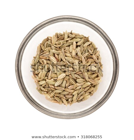 Top view of half filled bowl of Organic Fennel seed. Stock photo © ziprashantzi