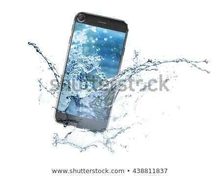 мобильного · телефона · Мир · мира · изолированный · белый - Сток-фото © unikpix