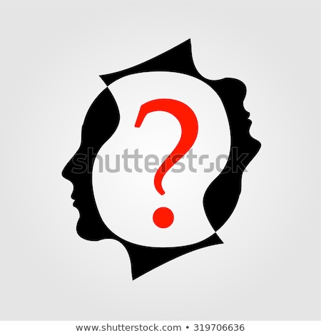 Сток-фото: Heads With A Question Mark Showing Different Queries