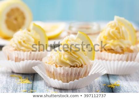 レモン · マクロ · 選択フォーカス · 後ろ - ストックフォト © rojoimages