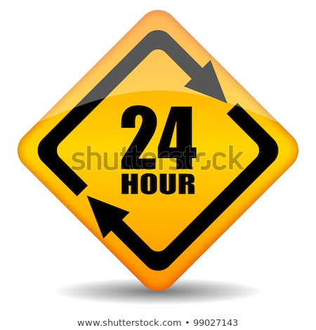 24 Hours Service Yellow Vector Icon Design stock photo © rizwanali3d