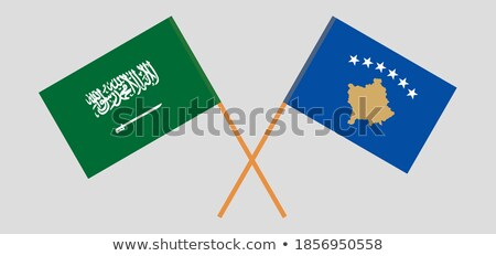Arábia Saudita Kosovo bandeiras quebra-cabeça isolado branco Foto stock © Istanbul2009