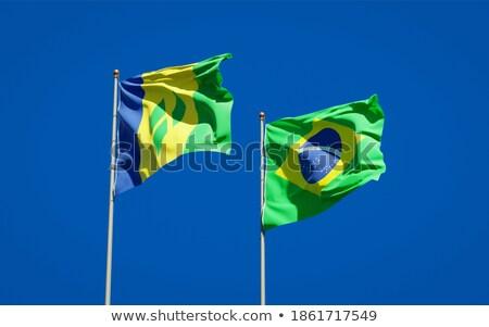 Бразилия святой флагами головоломки изолированный белый Сток-фото © Istanbul2009